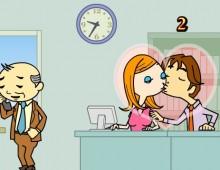 Besos en la oficina juegos de amor besos for Besos en la oficina 2